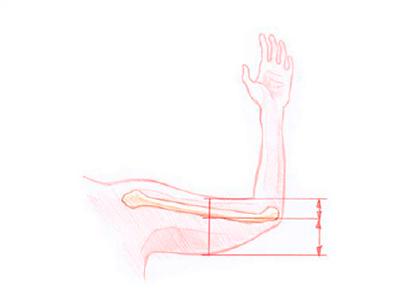 Slap hud på arme